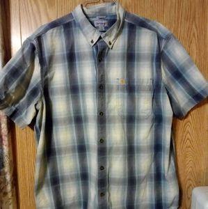 Men's Carhartt Plaid Button-Down Shirt